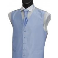 Sky Blue Shantung Wedding Waistcoat #WW1866/6