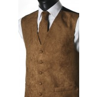 Light Brown Suede Effect Waistcoat #WW1869/6