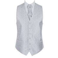 Silver Budding Paisley Waistcoat #AB-WWA1003/8