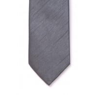 Boys Grey Shantung Wedding Tie #Y1865/1