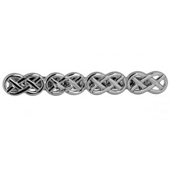 Silver Celtic Open Rhodium Plated Tie Clip #100-0101
