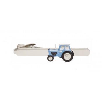 Blue Tractor Tie Clip