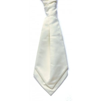 Ecru Satin Wedding Cravat (Boys Size) #YCR1863/3