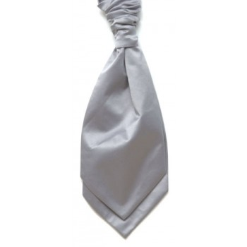 Grey Satin Wedding Cravat (Boys Size) #YCR1848/3