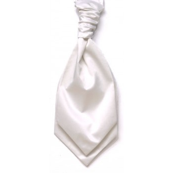White Satin Wedding Cravat (Boys Size) #YCR1847/2