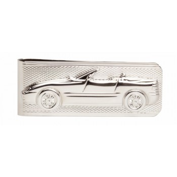 Silver BMW Rhodium Plated Money Clip #4882