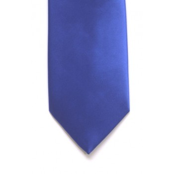Royal Blue Satin Tie #T1858/6