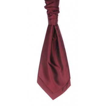 Wine Satin Wedding Cravat (Boys Size) #YCR102/4