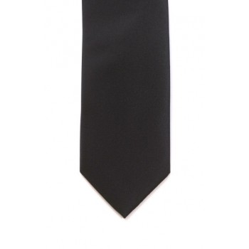Black Panama Skinny Tie #C001/1