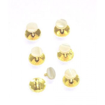 Dress Shirts Studs - Gold Colour and Pearl #Stud2/2