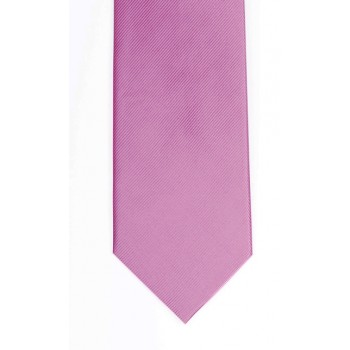 Plain Rose Pink Silk Tie #S5009/5