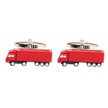 Red Lorry Rhodium Plated Cufflinks #90-1469