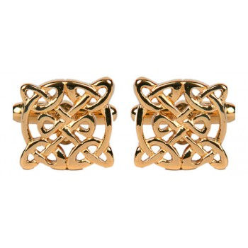 Gold Celtic Gold Plated Cufflinks #90-2037