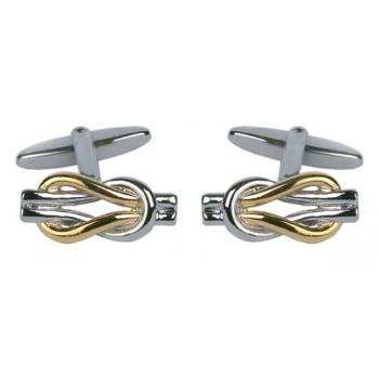 Silver Love Knot Cufflinks #90-9017