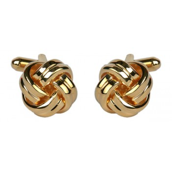 Gold Knot Gold Plated Cufflinks #90-9032