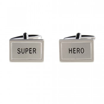 Silver Super Hero Cufflinks #90-1567