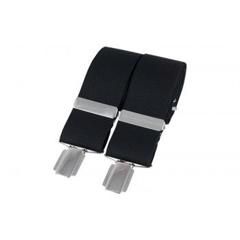 Black Silver Clip Braces #BR-001