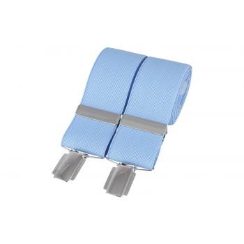 Sky Blue Silver Clip Braces #BR-003