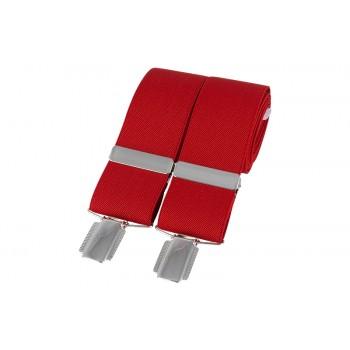Red Silver Clip Braces #BR-005