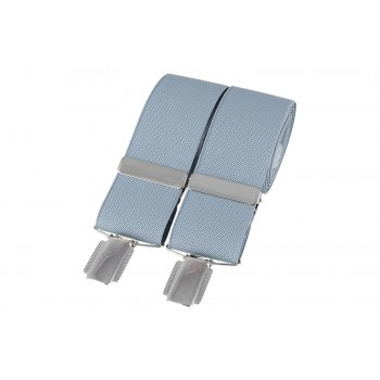 Grey Silver Clip Braces #BR-007