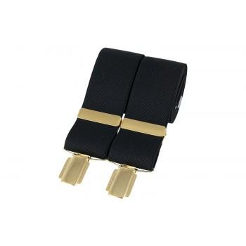 Black Gold Clip Braces #BR-009