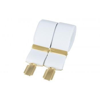 White Gold Clip Braces #BR-010