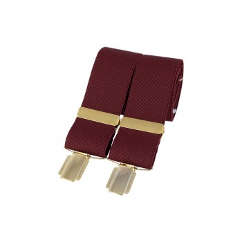 Burgundy Gold Clip Braces #BR-011