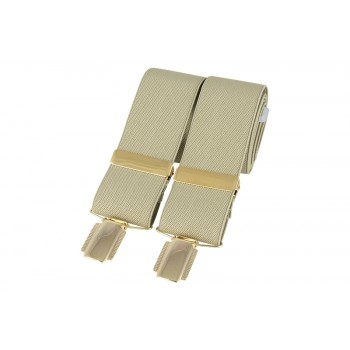 Cream Gold Clip Braces #BR-012