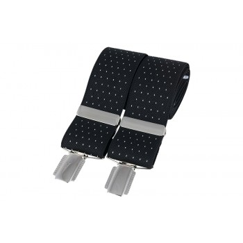 Black Pin Dot Braces #BR-018