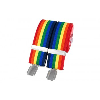 Multi Colour Rainbow Braces #BR-022