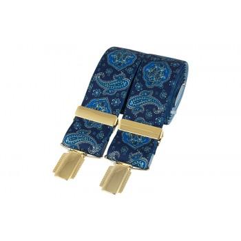 Blue Paisley Braces #BR-028
