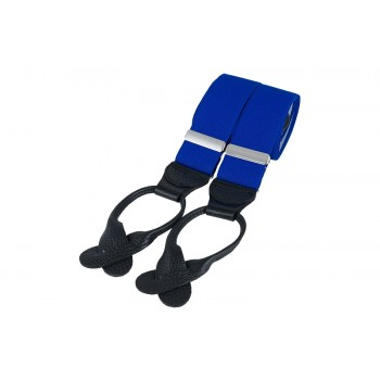 Royal Blue Rolled Leather Braces #BR-032
