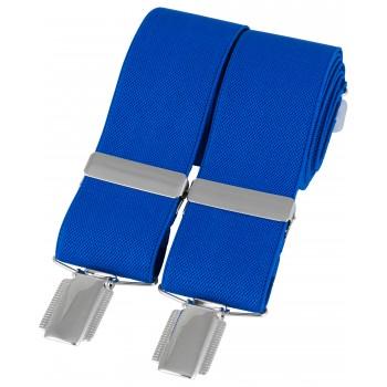 Royal Blue Silver Clip Braces #BR-035