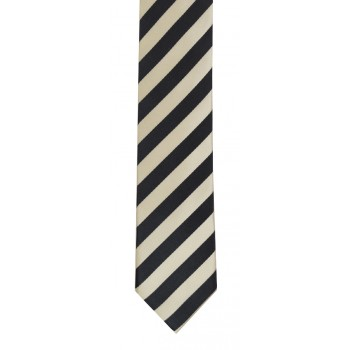 Grey and White Stripe Slim Tie #C131/5