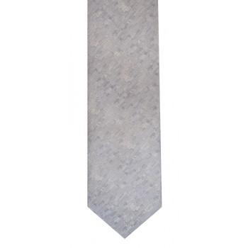 Silver Textured Slim Tie #C1569/2