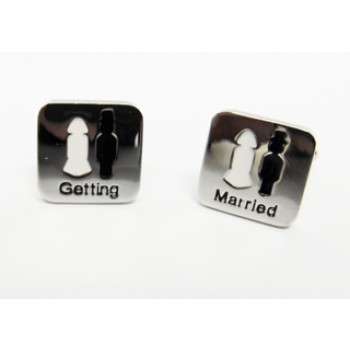 Multi Colour Getting Married Cufflinks #CF110/1