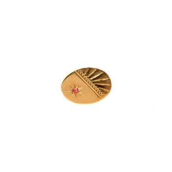 Gold Ruby 9ct Gold Tie Tac #DT-1162