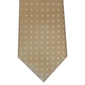 Ecru White Spot Tie #F1451/8