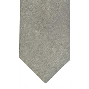 Silver Textured Tie with Matching Pocket Square