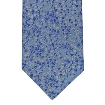 Blue Floral Ink Tie #F1596/1