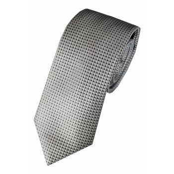 Silver Gridcheck Tie #F1606/1