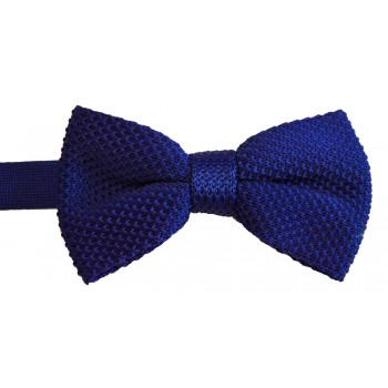 Blue Knitted Bow Tie #K022/3