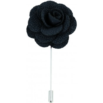 Black Flower Lapel Pin #L-03