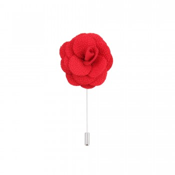 Red Flower Lapel Pin #L-04