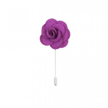 Purple Flower Lapel Pin #L-05