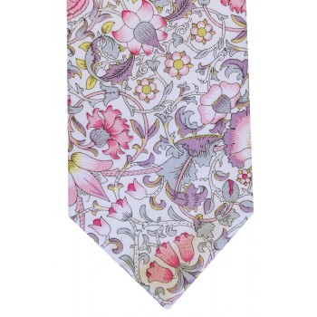 Pink Lodden Cotton Tie and Hankie Set