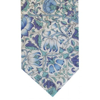 Blue Lodden Cotton Tie and Hankie Set