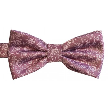 Pink Nightvine Woven Bow Tie #ROBB014/1