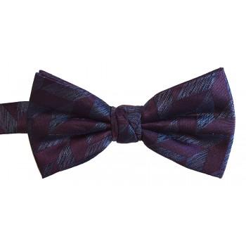 Plum Geo Woven Silk Bow Tie #ROBBS007/3