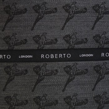Grey Bird of Prey Woven Pocket Hankie #ROBH9501/2
